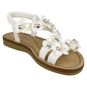 Savannah kvinners/damer blomst Trim stroppen sandaler