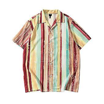 メンズ&アポス カラー ブロック 半袖シャツ