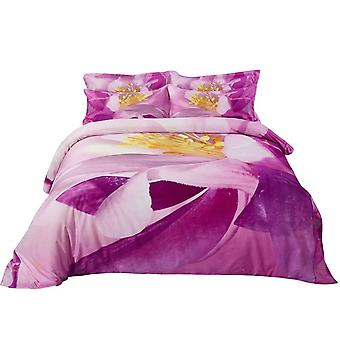 Conjunto de cubierta de edredón, ropa de cama floral king size, Dolce Mela - Junio Dm703K