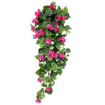Artificial Bougainvillea Planta pendurada 100cm roxo