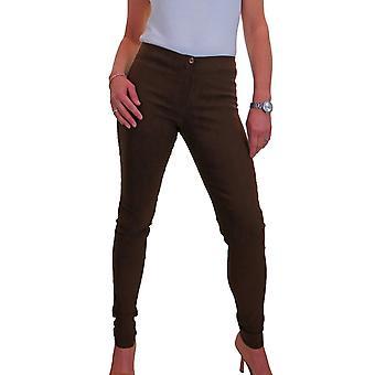 Women's Black Skinny Trousers Slim Leg Stretch Work Pants 4-16
