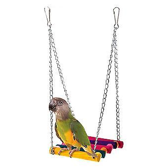 Bird Toy Parrot Suspension Bridge Swing