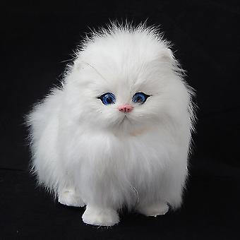 أفخم محاكاة القط دمية إلكترونية تقليد الحيوان مع وظيفة الصوت