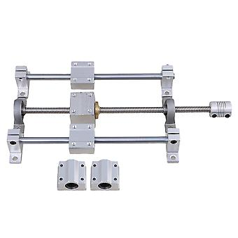 Horizontal 8mm Lead Rod 200mm Optical Axis Pillow Block Bearing Set