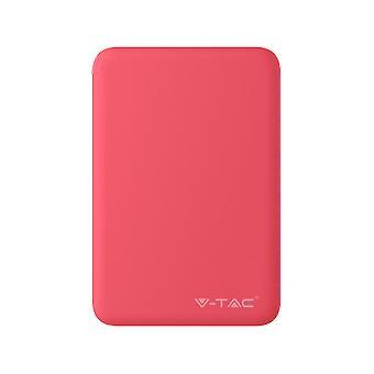 V-tac VT-3503 Compacte powerbank - 5.000 mAh - Rood