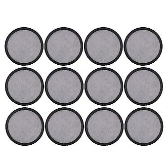 12x Charcoal Water Filter Discs Mixed Resin Replacement for Coffee Maker