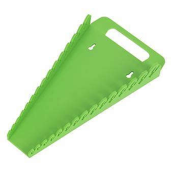 Sealey Wr08Hv Spanner Rack capacidade 15 chaves inglesas Oi-Vis verde