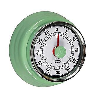 temporizador de cocción Retro 7,5 cm de acero verde