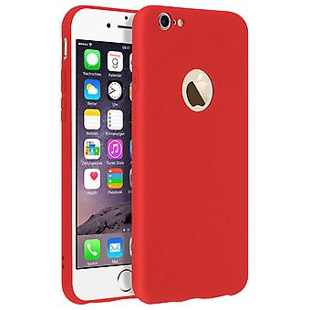 Forcell case for iPhone 6, iPhone 6S, soft touch cover, silicone case – Red