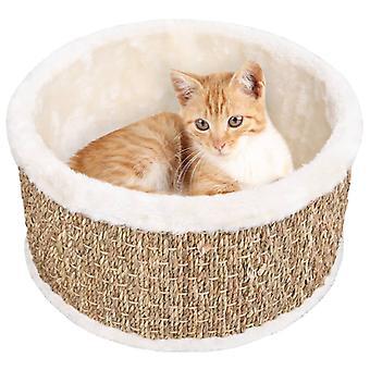 vidaXL kattenmand rond 36 cm zeewier
