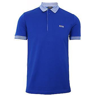 Hugo boss athleisure paule 2 men's blue polo shirt