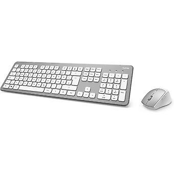 FengChun Funk-Tastatur Maus Set (QWERTZ Tastenlayout, kabellose ergonomische Maus, 2,4GHz,