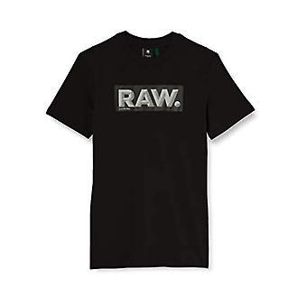 G-STAR RAW RAW Förstärkt reflekterande rå. Logo+ T-Shirt, Dk Svart 336-6484, M Herrar