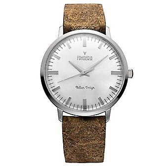Foundry Analog Watch Quartz Men with Leather Strap P-6A003US4