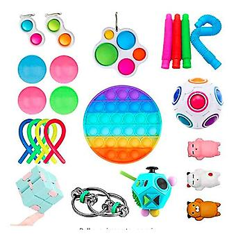 Sensory Fidget Toys Set Bubble Pop Stress Relief for Kids Adults Z56