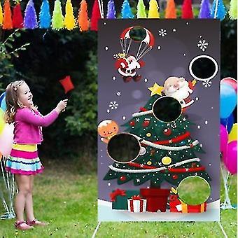 Christmas Sandbag Game Flag Parent-child Throwing Game Outdoor Sports Props