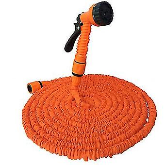 25Ft orange garden 3 times retractable hose, with high pressure car wash water gun az8503