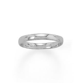 925 Sterling Silver Rhodium Pokovované 3mm Band 3mm Šperky Darčeky pre ženy - Prsteň Veľkosť: 4 až 11
