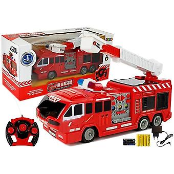 RC fire engine – 28 x 8.5 x 10.5 cm - with charger and remote control