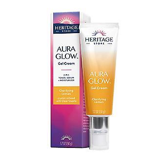 Heritage Store Aura Glow Gel Cream Clarifying Lemon, 1.7 Oz