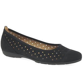 Gabor Flæsekanter dame udstansede detaljer Casual sko