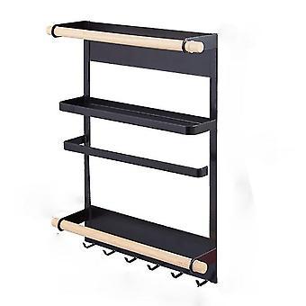 Magnet Fridge Shelf Paper Towel Roll Holder Magnetic Storage Rack Spice Hang Rack Decorative Metal