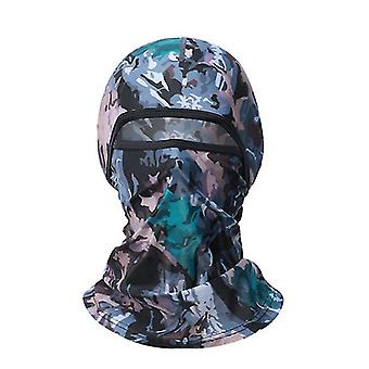 Summer camouflage ice silk headgear, women's motorcycle riding full face mask(Camouflage Pattern)