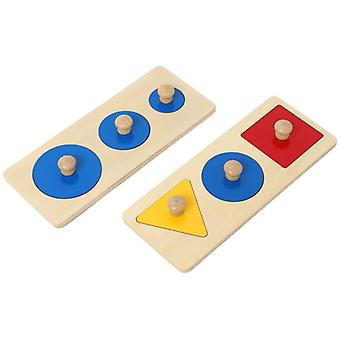 Montessori Wooden Puzzle Board Shape Puzzle Material Toy For Toddler