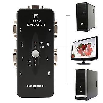 Usb 2,0 Kvm-switchmus/-tastatur/vga-skærmdeling med fire porte 1920 x 1440