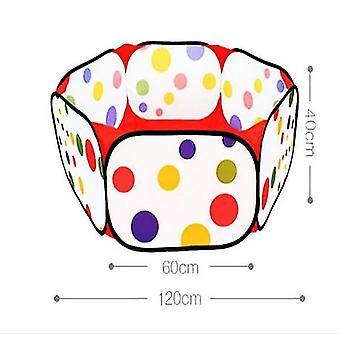 1.2mポータブルおもちゃテントカラフルオーシャンボールテントベビートイズギフト(ボールなし)