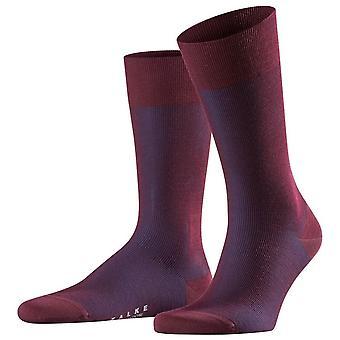 Falke Fine Shadow Wolle Socken - Schwarzkirsche rot