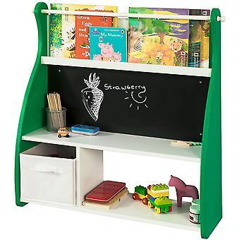 SoBuy Wand Kinder Regal Bücherregal mit Blackboard KMB09-GR