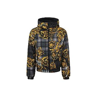 Versace Jeans Couture Zip Polyester Reversible Black/gold Jacket