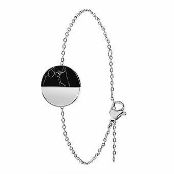 Bracelet Femme Ang�le M - B2422-ARGENT Acier Argent