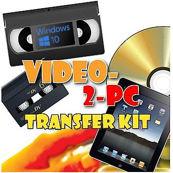 Video-2-PC DIY Video Capture Kit. For Windows 10, 8.1, 8, and 7. Links your VCR or Camcorder to the
