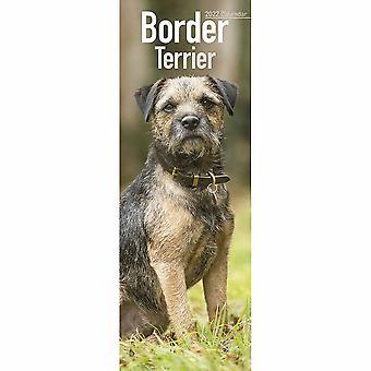 Otter House Border Terrier Slim Kalender 2022