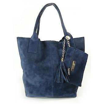 Vera Pelle Zamsz XL A4 Shopper Bag W567BS everyday  women handbags