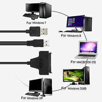 "Usb 2.0 To Sata 7+15 Pin 22pin Adapter Cable For 2.5"" Hdd Hard Disk Drive"