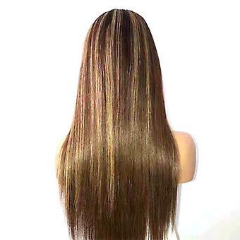 Modische Damen Perücken Gradient Hervorhebung mittlere Länge gerade Haare