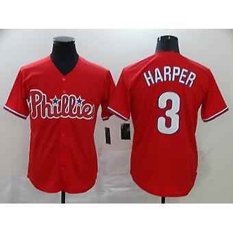 Mens Baseball Jersey Short Sleeve #3 Bryce Harper Phillies Player Jerseys 90s Hip Hop Game Fans Sports Baseball Uniforms Size S-xxxl