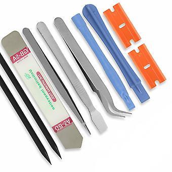 10 In 1 matkapuhelimen korjaus Avaaminen Pry Purkaa Työkalut Set Spudger Tweezer Kit