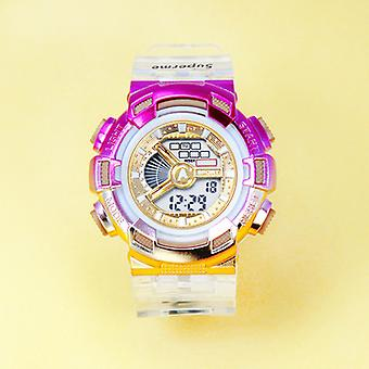 Gradient Color Electronic Watch Student Waterproof Rainbow Color Watch