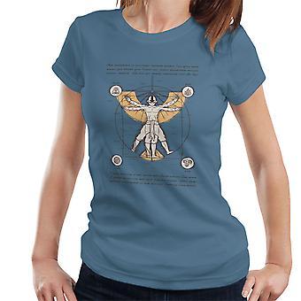 Vitruvian Aang Dragonball Z Women's T-Shirt