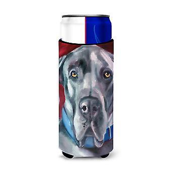 Dog niemiecki naturalne uszy niebieski kołnierz Ultra napojów Izolatory slim puszek