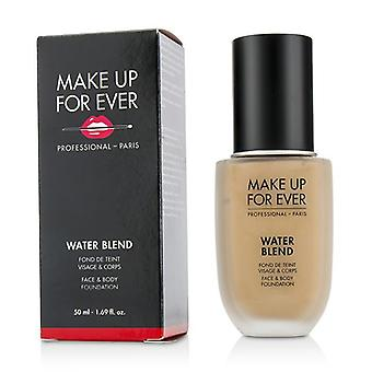 Make up para sempre Water Blend face & amp; Body Foundation-# R370 (bege médio)-50ml/1.69 oz