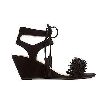 Material Girl Womens Haniya Leather Open Toe Casual Platform Sandals