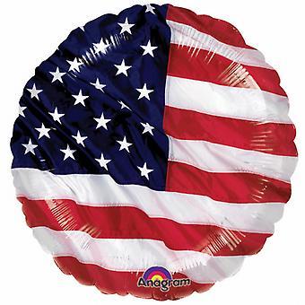 Amscan 18 Inch American Stars & Stripes Flag Circular Foil Balloon