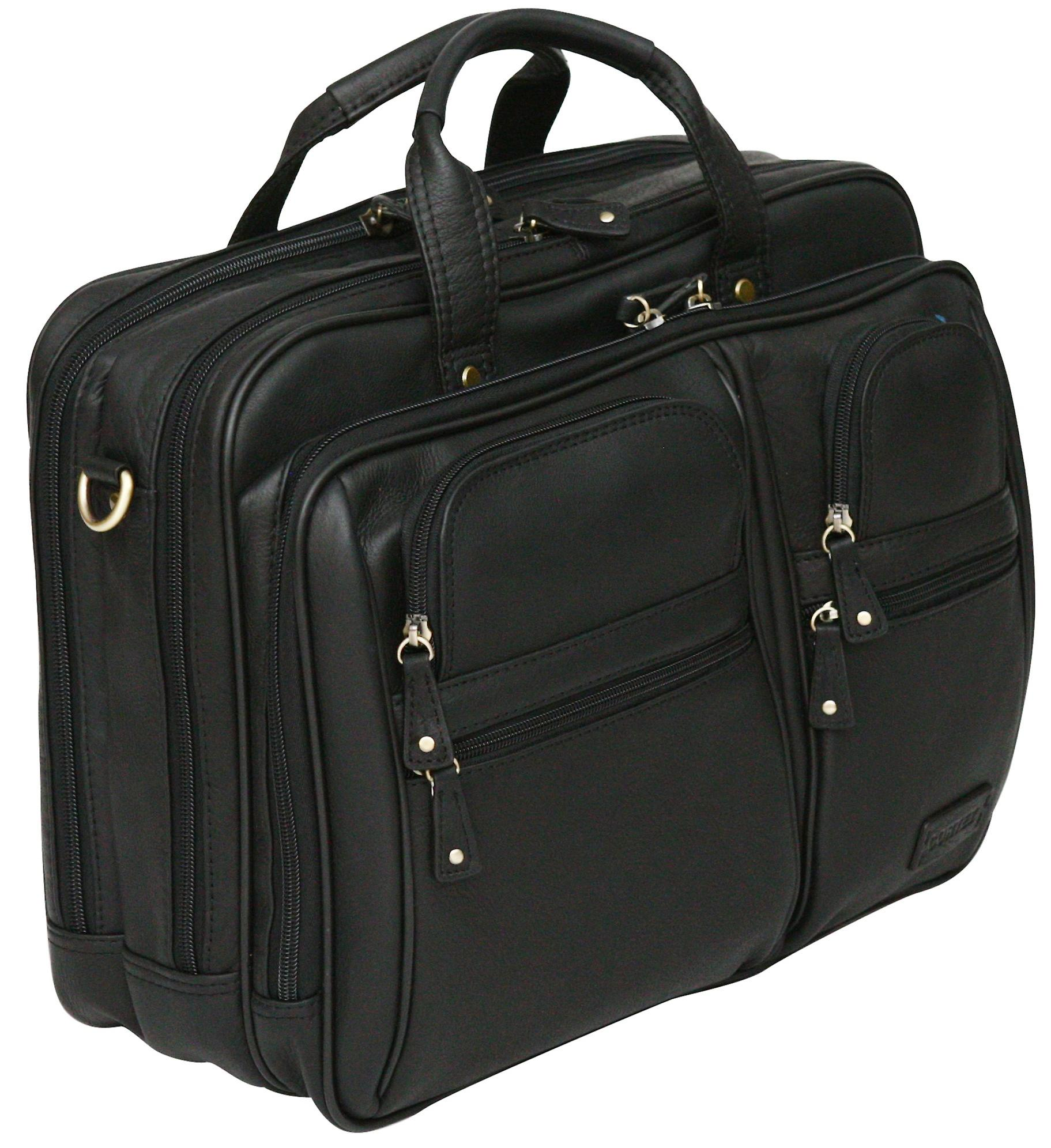 Cortez Colombian Leather 15.6 Inch Laptop Case Briefcase Soft Business Bag