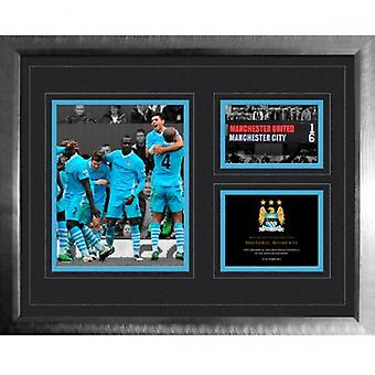 Manchester City Historic Moments Picture 6 1 Derby 16x20