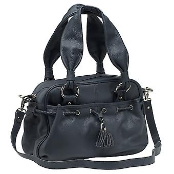Burgmeister ladies bag T217-111 leather blue-grey